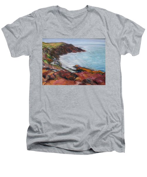 Painterly - Bold Seascape Men's V-Neck T-Shirt