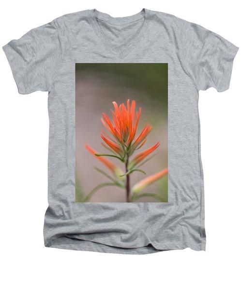 Painterly Paintbrush Men's V-Neck T-Shirt