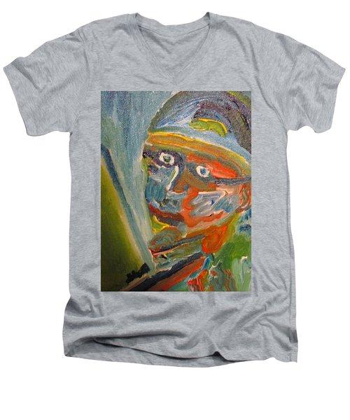 Painting Myself Men's V-Neck T-Shirt