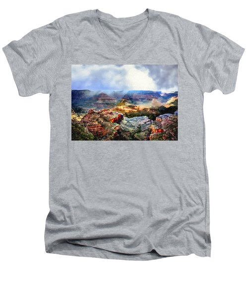 Painting The Grand Canyon Men's V-Neck T-Shirt