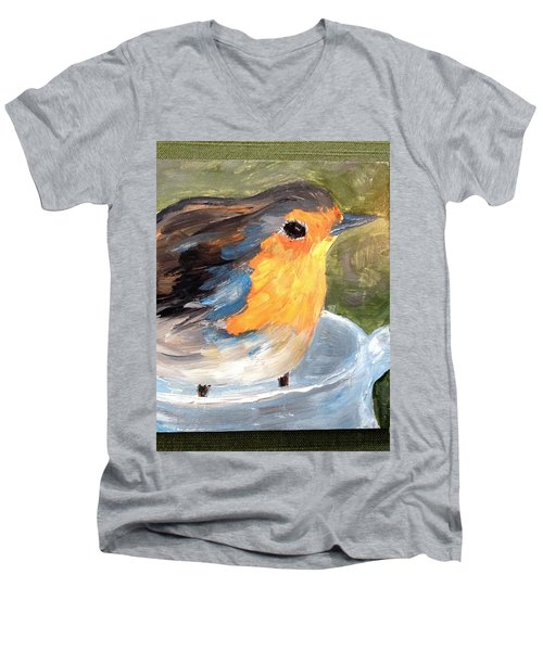 Pajarito  Men's V-Neck T-Shirt