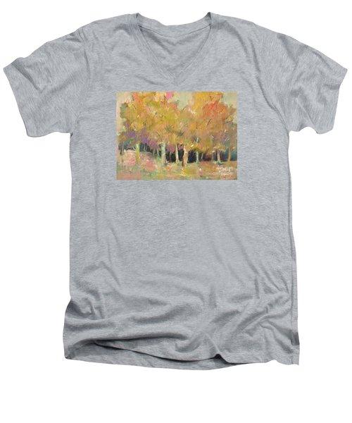 Pale Forest Men's V-Neck T-Shirt by Michelle Abrams