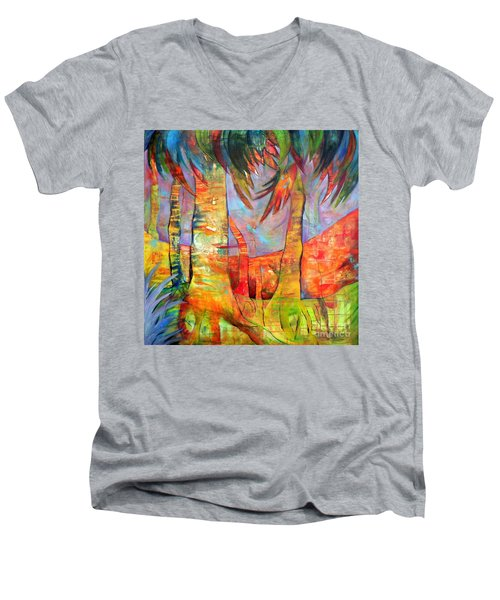 Palm Jungle Men's V-Neck T-Shirt
