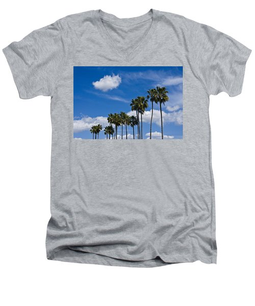 Palm Trees In San Diego California No. 1661 Men's V-Neck T-Shirt