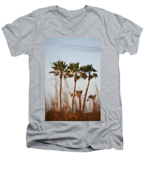 Palm Trees Through Tall Grass Men's V-Neck T-Shirt