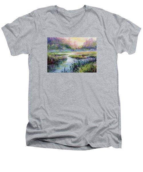 Palmer Hayflats Men's V-Neck T-Shirt by Karen Mattson