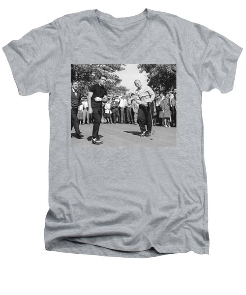 Palmer, Player And Nicklaus Men's V-Neck T-Shirt