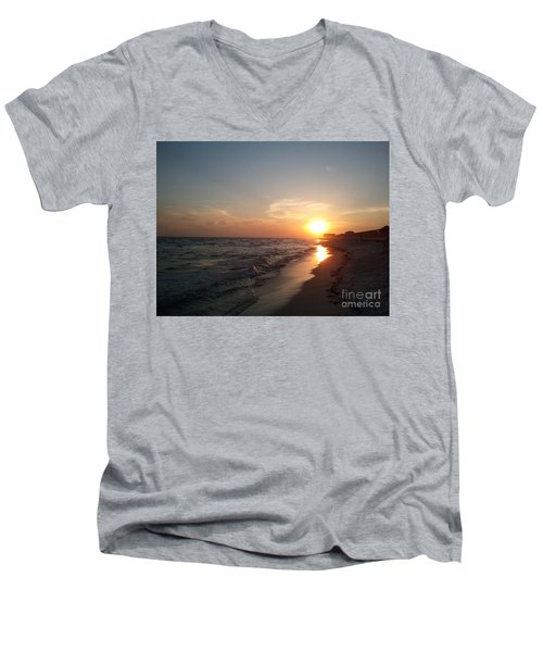 Panama City Beach Sunset Men's V-Neck T-Shirt