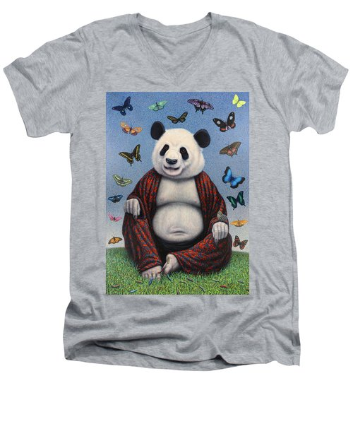 Panda Buddha Men's V-Neck T-Shirt