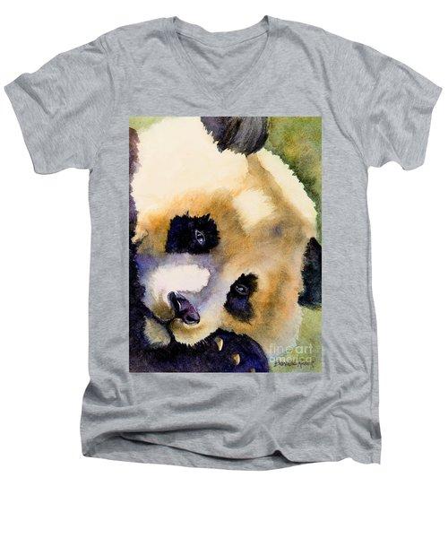 Panda Cub Men's V-Neck T-Shirt