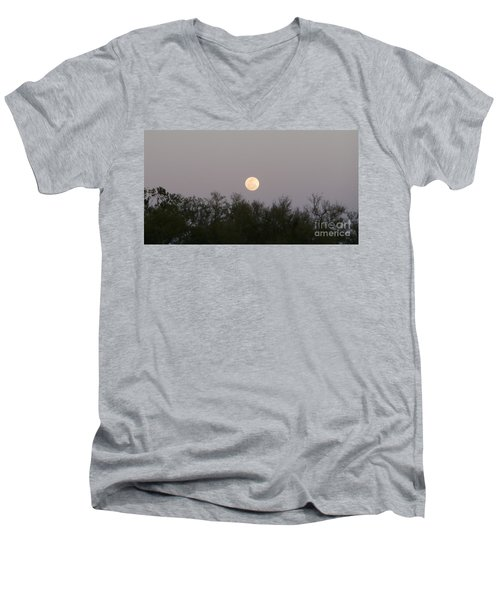 Panoramic New Orleans Moon Rising Men's V-Neck T-Shirt
