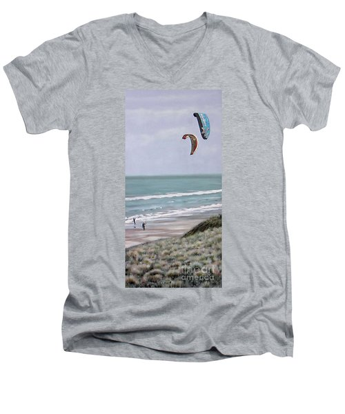Papamoa Beach 090208 Men's V-Neck T-Shirt