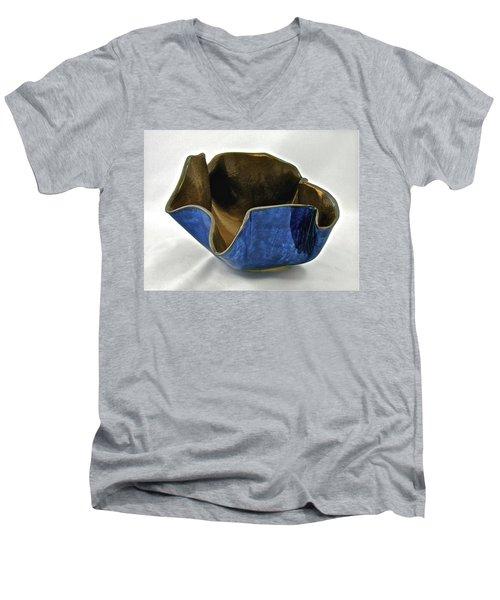 Paper-thin Bowl  09-005 Men's V-Neck T-Shirt by Mario Perron