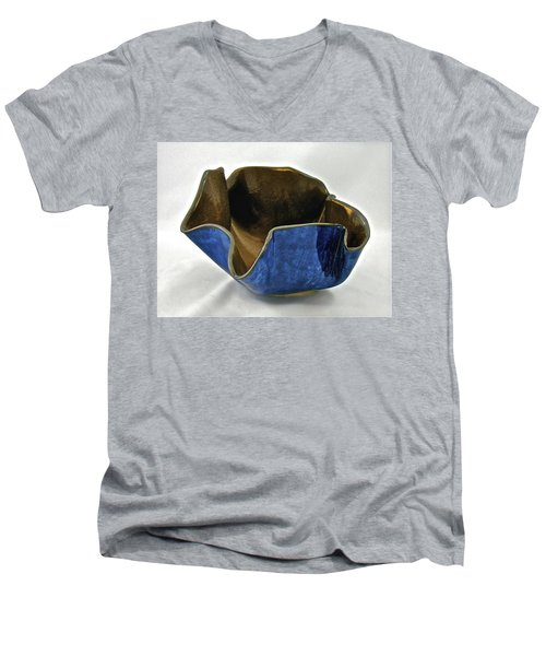 Paper-thin Bowl  09-005 Men's V-Neck T-Shirt