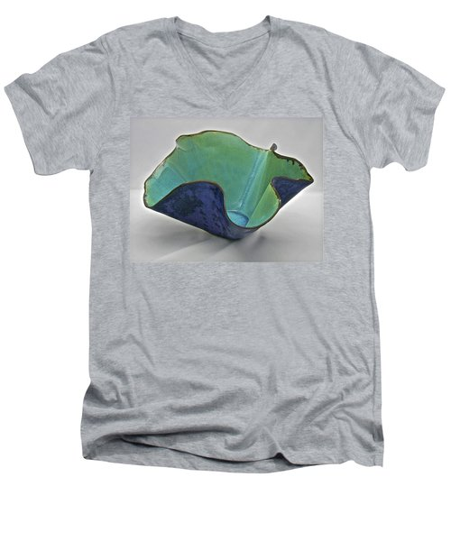 Paper-thin Bowl  09-006 Men's V-Neck T-Shirt