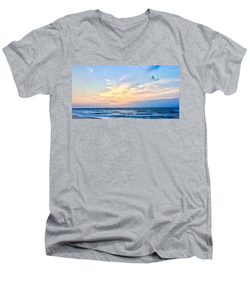 Paraclete At Sunrise  Men's V-Neck T-Shirt