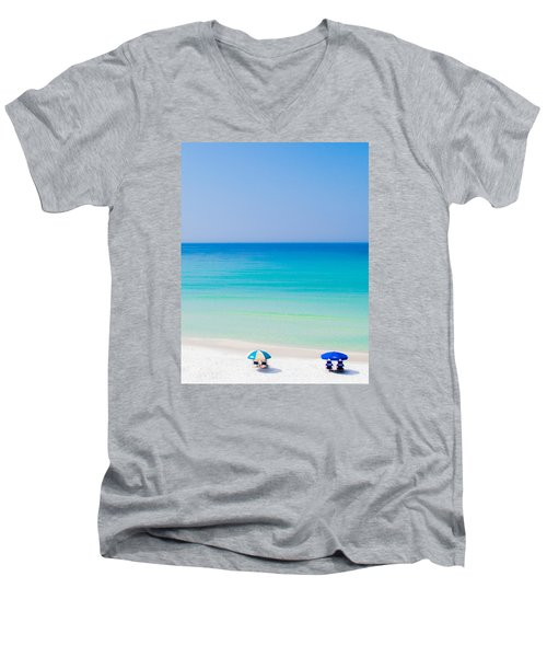 Paradise Men's V-Neck T-Shirt by Shelby  Young