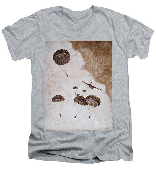 Paratroopers Men's V-Neck T-Shirt