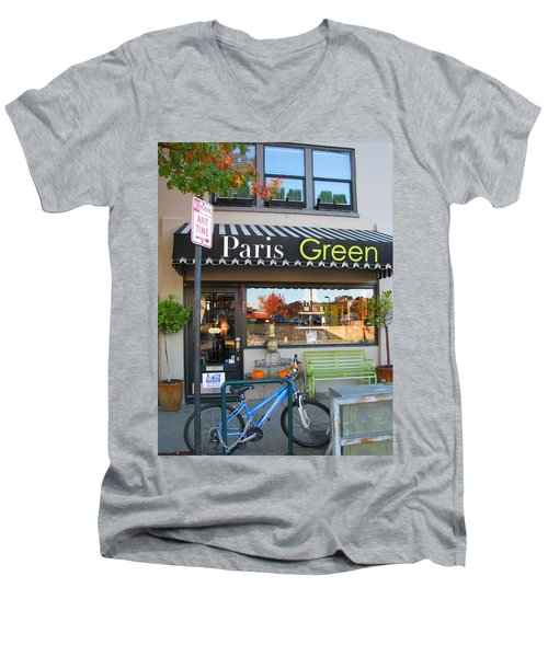 A Little Paris In Ashland Men's V-Neck T-Shirt