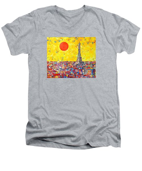 Paris In Sunlight Men's V-Neck T-Shirt by Ana Maria Edulescu