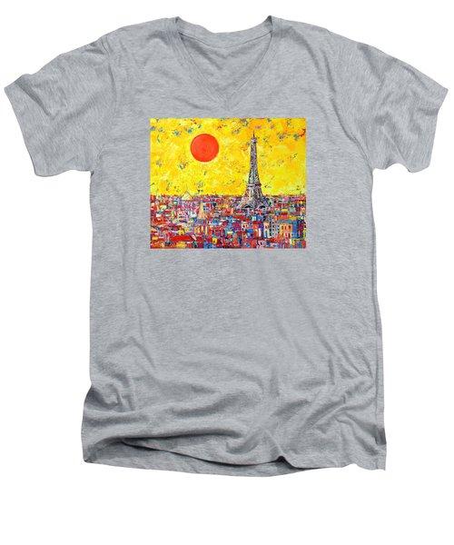 Paris In Sunlight Men's V-Neck T-Shirt
