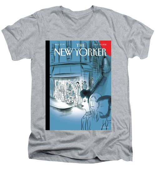 Paris, November 2015 Men's V-Neck T-Shirt