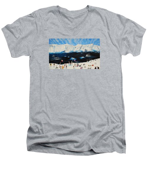 Party At Antarctic Men's V-Neck T-Shirt