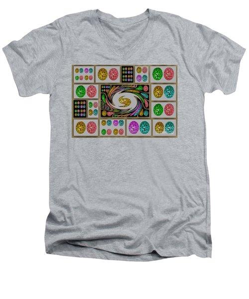 Party Eggs Men's V-Neck T-Shirt