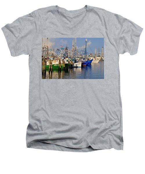 Pass Christian Harbor Men's V-Neck T-Shirt