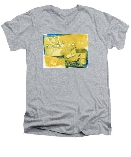 Pass Go Men's V-Neck T-Shirt
