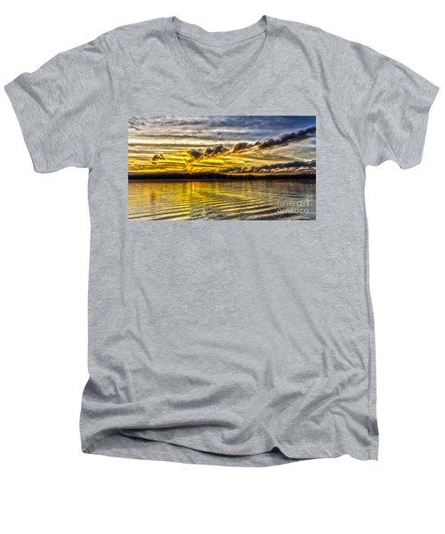 Passing Storm Two. Men's V-Neck T-Shirt