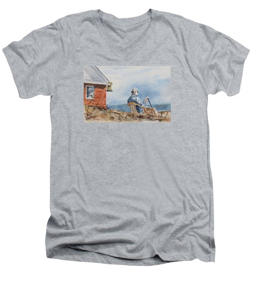 Passing Time Men's V-Neck T-Shirt