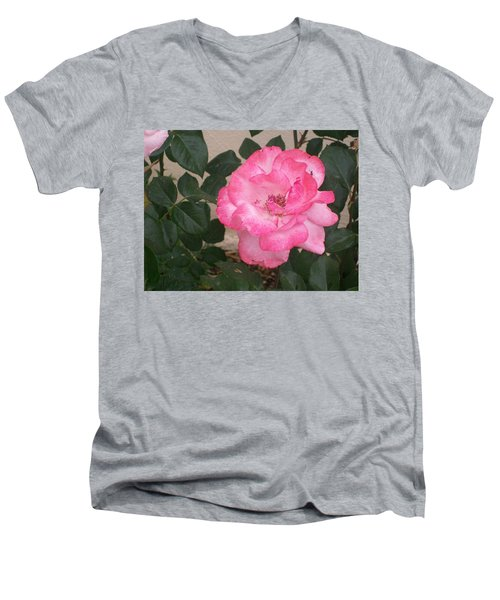 Men's V-Neck T-Shirt featuring the photograph Passion Pink by Jewel Hengen