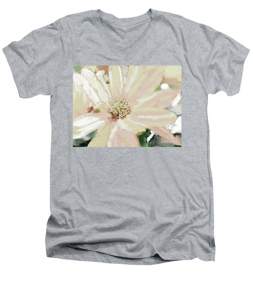 Pastel Daisy Photoart Men's V-Neck T-Shirt by Debbie Portwood