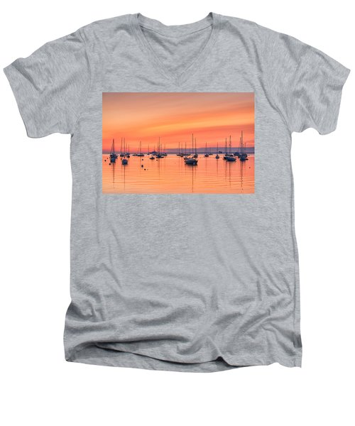 Pastel Harbor Men's V-Neck T-Shirt