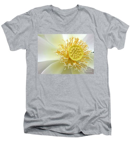 Pastel Lotus Men's V-Neck T-Shirt
