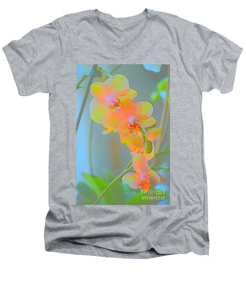 Pastel Orchids Men's V-Neck T-Shirt