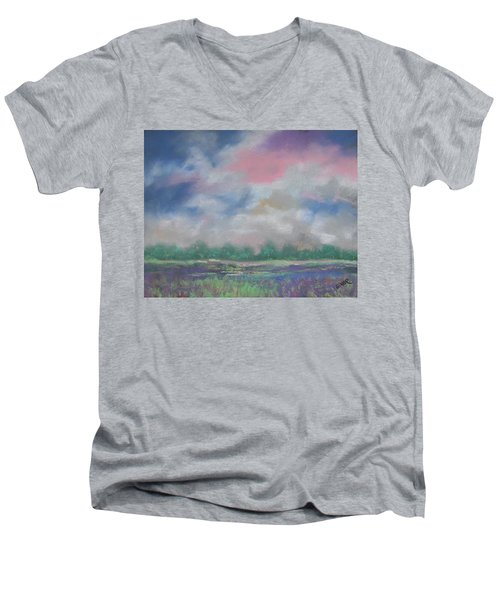 Pastel Sky Men's V-Neck T-Shirt