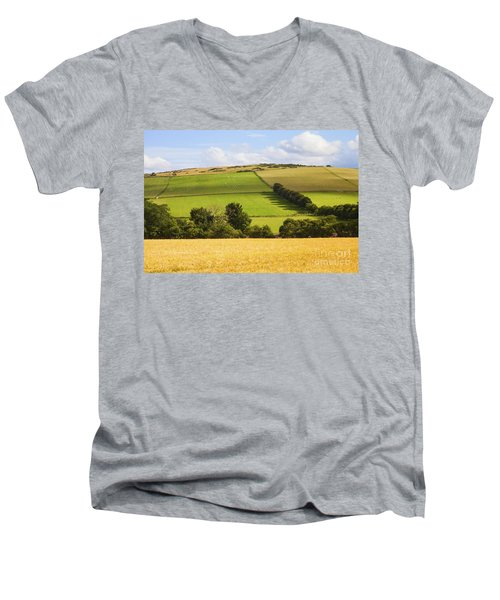 Pastoral Scene Men's V-Neck T-Shirt