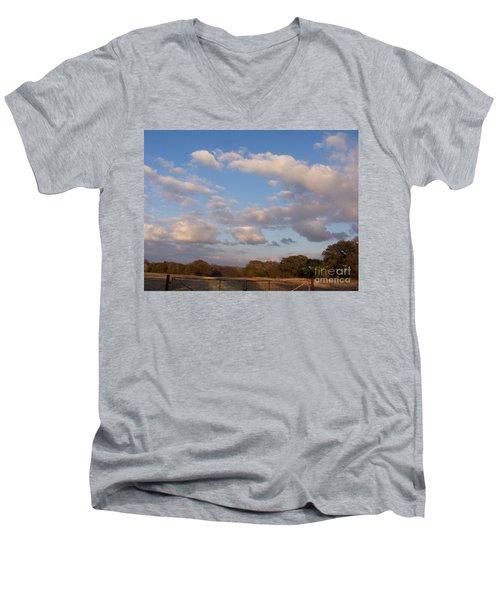 Pasture Clouds Men's V-Neck T-Shirt