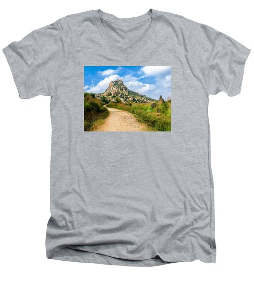 Path Into The Hills Men's V-Neck T-Shirt