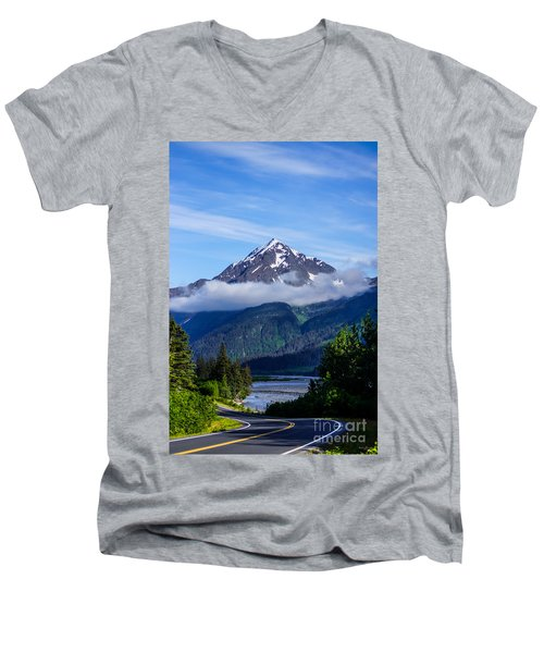 Path Through Alaska Men's V-Neck T-Shirt