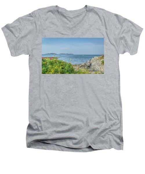 Men's V-Neck T-Shirt featuring the photograph Path To The Cove by Jane Luxton