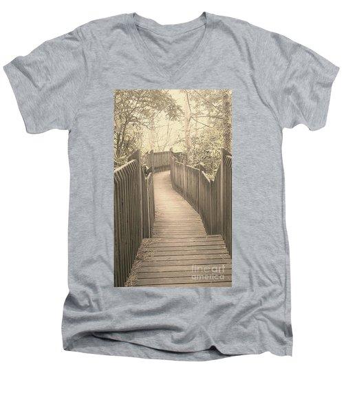 Pathway Men's V-Neck T-Shirt by Melissa Petrey