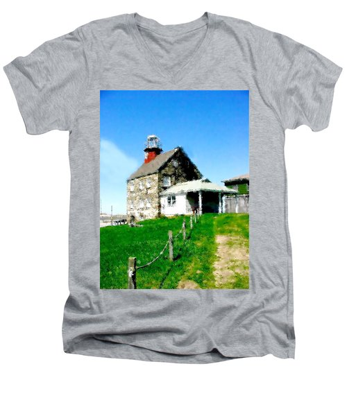 Pathway To Happiness  Men's V-Neck T-Shirt by Iconic Images Art Gallery David Pucciarelli