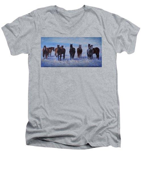Patiently Waitling Men's V-Neck T-Shirt