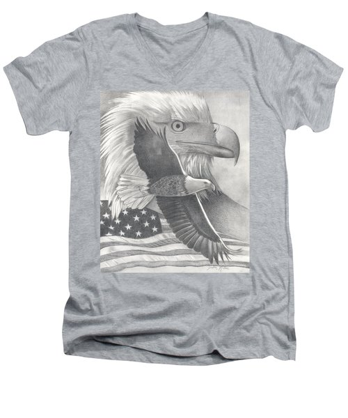 American Bald Eagle Men's V-Neck T-Shirt