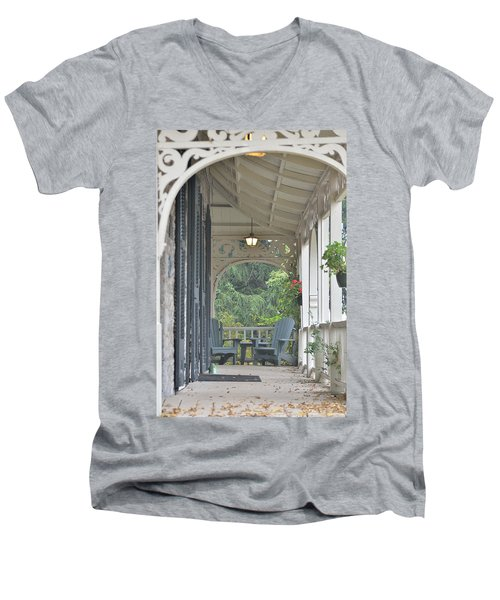 Pause For Reflection Men's V-Neck T-Shirt