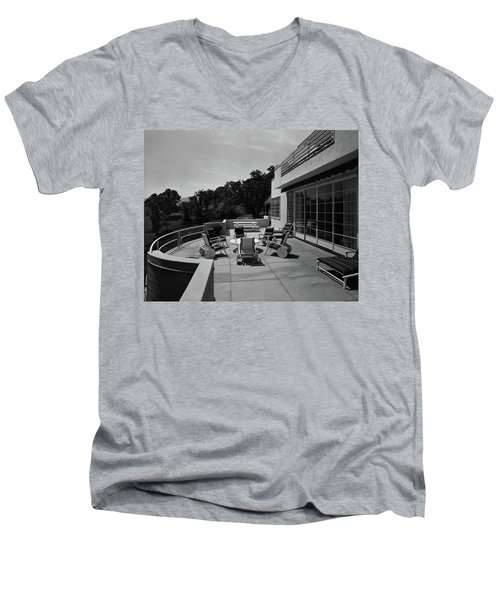Paved Terrace At The Residence Of Mr. And Mrs Men's V-Neck T-Shirt