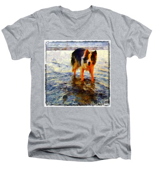 Paws For Thought Men's V-Neck T-Shirt